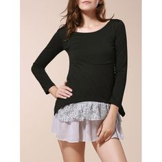 11.44$  Buy here - http://dibsb.justgood.pw/go.php?t=YM1583001 - Cute Scoop Neck Long Sleeve Twinset Women's Dress 11.44$