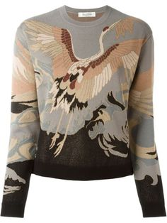 Shop Valentino heron intarsia jumper in Stefania Mode from the world's best independent boutiques at farfetch.com. Shop 400 boutiques at one address.