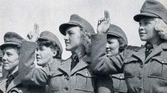 Waffen-SS Norwegian frontline nurses at a swearing in ceremony.