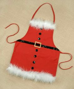 "A ""Santa Baby"" apron will add some fun in the kitchen this Christmas! Christmas Aprons, Christmas Sewing, Christmas Goodies, Holiday Fun, Christmas Holidays, Festive, Merry Christmas, Christmas Projects, Holiday Crafts"