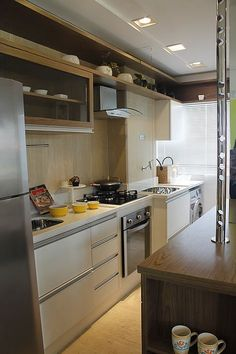 small kitchen with washer dryer Home Design, Home Interior Design, Kitchen Sink Lyrics, Kitchen Interior, Kitchen Decor, Best Kitchen Designs, Cool Kitchens, Sweet Home, Kitchen Cabinets