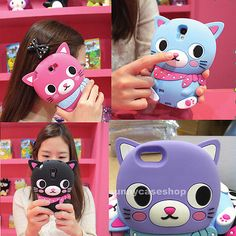 NEWEST 3D Cute Cat Silicone soft Case cover  for iphone5s 5G 4S GALAXY NOTE3 III