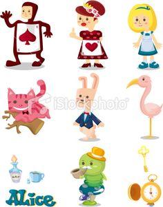 cartoon Alice in Wonderland Royalty Free Stock Vector Art Illustration