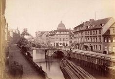 Jungfernbrücke und Schleusengraben an der Friedrichsgracht, um 1885 © Stadtmuseum Berlin | Foto: F. Albert Schwartz