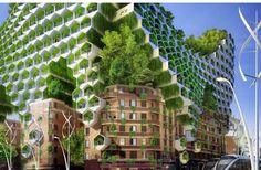 Artist concept of energy efficient Paris