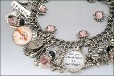 Charm Bracelet Good Witch or Bad Witch Wizard by BlackberryDesigns, $87.00 I want this for Halloween!