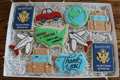 The perfect gift for a travel agent or anyone who loves to travel! Set includes a variety of vanilla sugar cookies that are hand-decorated with