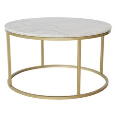 Jace Coffee Table Norden Home Colour (Table Base): Gold, Colour (Table Top): White Wire Coffee Table, Lift Top Coffee Table, Coffee Table With Storage, Round Coffee Table, Coffee Table Design, Table Cafe, Petites Tables, Coffee Table Wayfair, Kare Design