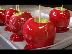 How to Make Perfect Candy Apples ~   Candy apples are a classic treat enjoyed in autumn. Candy apples should be prepared with caution and with the supervision of an adult, as the candy coating becomes hot as it cooks.
