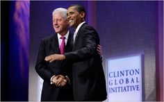 Vintage September 2009, President Barack Obama joins President Bill Clinton at the Clinton Global Initiative, NYC, www.RevWill.com