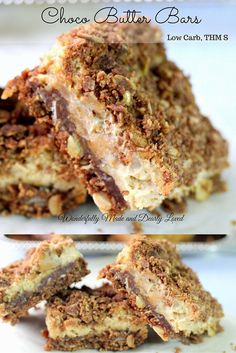 Choco Butter Bars (THM S, Low Carb, Sugar Free)