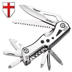 Swiss Army Knife Multi Function - Compact Stainless Steel Multi Purpose Folding Pocket Knife Mini Utility Tool - Style Knife Blade, Saw, LED Flashlight - Grand Way 104048. For product & price info go to:  https://all4hiking.com/products/swiss-army-knife-multi-function-compact-stainless-steel-multi-purpose-folding-pocket-knife-mini-utility-tool-style-knife-blade-saw-led-flashlight-grand-way-104048/