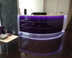 Lada recepcyjna VALDE  #elzap #meblebiurowe #meble #furniture #poland #warsaw #krakow #katowice #office #design #officedesign #officefurniture #purple #receptiondesk #reception #waitingroom www.elzap.eu www.meble-metalowe.com www.krzesla.krakow.pl