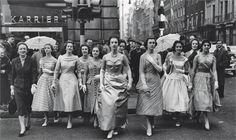 Debutantes 1955 Berkeley Square.