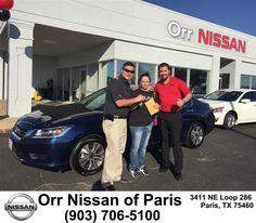 https://flic.kr/p/FCdZ59 | Congratulations Christine on your #Honda #Accord Sdn from Derek Jones at Orr Nissan of Paris! | deliverymaxx.com/DealerReviews.aspx?DealerCode=J476