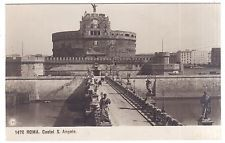 ANTIQUE 1910 RPPC REAL PHOTO ROMA CASTEL S. ANGELO ROME ITALY POSTCARD
