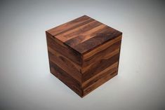 Custom Made Walnut Cube Coffee Table, End Table, Or Stool