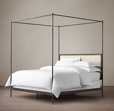 19th C. French Canopy Bed...second option for master bedroom in the & Napa Canopy Full Bed Black | Full bed Canopy and Gray bedroom