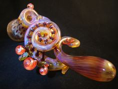 glass pipe by Erin....monster curls!    Made with Love in Asheville