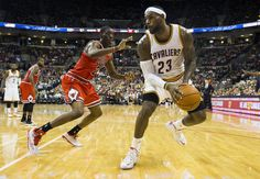 Lebron James with Snell guarding
