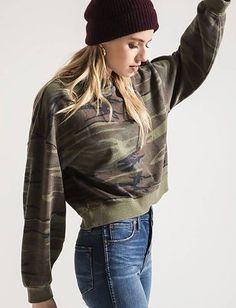 The Oversized Camo Fleece Pullover Camo Sweatshirt, Crew Neck Sweatshirt, Pullover, Werewolf Girl, Vintage Sportswear, Camo Outfits, Hoodies, Sweatshirts, Online Boutiques