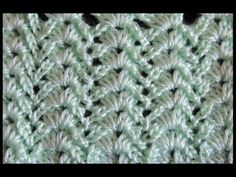 (crochet) How To Crochet the Raised Treble Diagonal Rib Stitch - Crochet Extras - YouTube