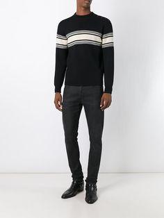 Saint Laurent striped button sweater