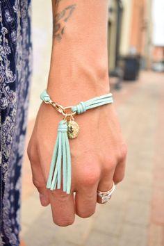 Faux Suede Tassel Bracelet More