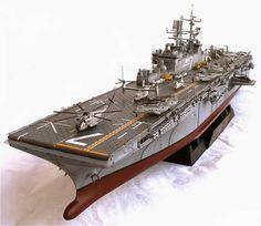 Gallery Models 1/350 scale Wasp Class USS Iwo Jima LHD-7 Amphibious Assault Ship.