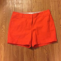 J Crew Coral shorts These shorts have never been worn. Only washed and ironed. I purchased them last year and they were too tight. They have a 4 inch inseam. Don't hesitate to ask questions. J. Crew Shorts