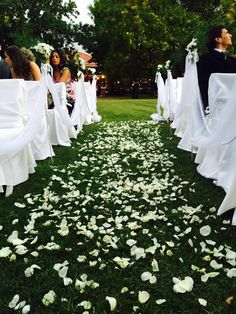 Ceremonia. Pétalos. Rosas. Amor