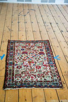 2x4 Vintage Persian Hamadan Rug Runner
