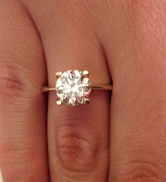 inique engagement rings for women solitare | Unique Engagement Rings, 2.00 CT Diamond Solitaire Engagement Ring ...? #diamondsolitairering