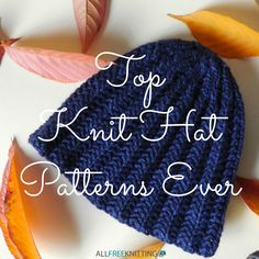 12 Top Knit Hat Patterns Ever | Cool Crafts Ideas for Knitting Projects
