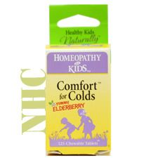 Herbs For Kids Comfort for Colds Elderberry is a homeopathic cold formula for supporting the temporary relief of stuffy, runny nose, sneezing, sore throat and fever
