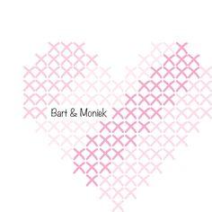 #trouwkaartje Bart & Moniek