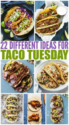 20 Deliciously Different Tacos that will get you out of your taco rut and loving them again. I have rounded up 20 Deliciously Different Tacos that will get you out of your taco rut and loving them again. Crunchwrap Supreme, Steak Tacos, Brisket Tacos, Carnitas Tacos, Mexican Food Recipes, Dinner Recipes, Ethnic Recipes, Taco Ideas For Dinner, Taco Night Ideas