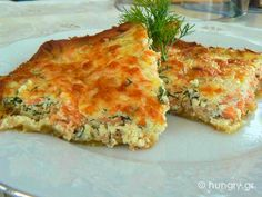 solomos me spanaki se sfoliata Spinach And Feta, Greek Recipes, Cooking Time, Quiche, Seafood, Bakery, Brunch, Food And Drink, Appetizers