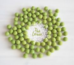 Wool Felt Balls - Handmade from 100% wool Fibers  Color: Pea Green (IMPORTANT: Shades may vary slightly between each ball and each…