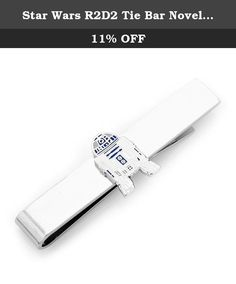 Star Wars R2D2 Tie Bar Novelty 2 x 0in. Make like an astromech hero and protect your tie with the Star Wars R2D2 Tie Bar. The tie bar features the perfectly rendered astromech droid, R2D2, on a plated sliding tie bar. Much like R2D2, you will be equipped to show great bravery and rescue your masters from any perils. Officially licensed by Lucasfilm.