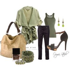 """""""Olive Green"""" by orysa on Polyvore"""