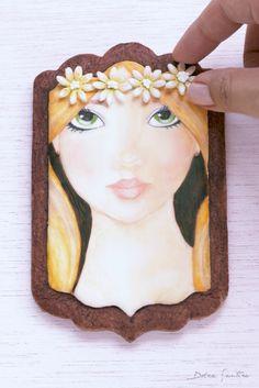 Dolce Sentire {Galletas decoradas}: 9 pasos para pintar rostros en tus galletas {Tutorial para Cookie Connection}