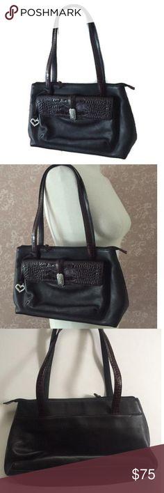e141516e32d3 I just added this listing on Poshmark  Brighton Purse Black Bag Pebble  Leather Handbag.