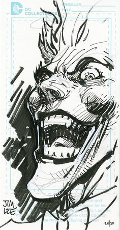 The Joker by Jim Lee * - Art Vault More You are in the right place about Marvel Comics sketch Here we offer you the most beautiful pictures about the Marvel. ross marvel frost four ramos kirby lee deodato surfer bianchi men Le Joker Batman, Der Joker, Joker Art, Joker And Harley Quinn, Joker Comic, Joker Kunst, Batman Kunst, Comic Book Artists, Comic Artist
