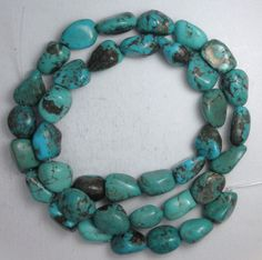 """Turquoise Loose Nugget Beads Natural Colors 16"""" Craft Jewelry Stabilized  #831 #Erthart #Southwest"""
