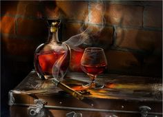 Pictures, Whiskey, cigar, a glass, 1663x1200wallpapers, pictures, free download