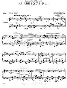 debussy deux arabesques No. 1 sheet music -