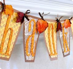 Fun THANKFUL banner to create with the whole family!