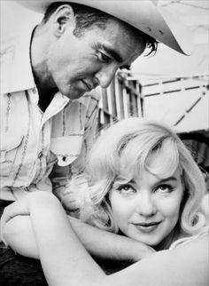 "Marilyn Monroe & Montgomery Clift in ""The Misfit's"" Directed by John Huston Wrten by Arthur Miller 1961"