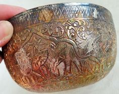 Antique Hand Chased Floral Silver Bowl Asian-Chinese Silver Markings Poppies #unknown